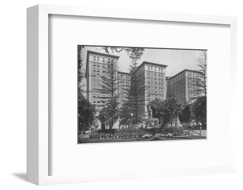 General view of the exterior, Los Angeles-Biltmore Hotel, Los Angeles, California, 1923--Framed Art Print