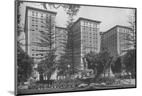 General view of the exterior, Los Angeles-Biltmore Hotel, Los Angeles, California, 1923--Mounted Photographic Print