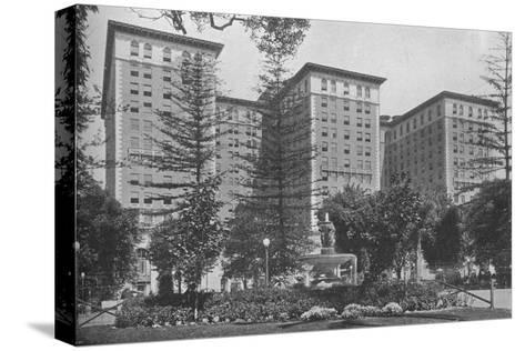 General view of the exterior, Los Angeles-Biltmore Hotel, Los Angeles, California, 1923--Stretched Canvas Print
