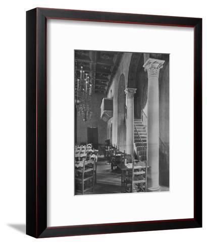 Detail of main dining room, University Club Building, Los Angeles, California, 1923--Framed Art Print