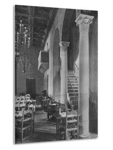 Detail of main dining room, University Club Building, Los Angeles, California, 1923--Metal Print