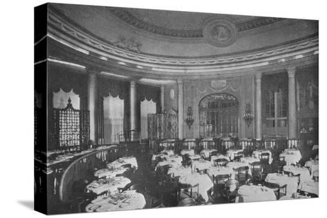 The Ritz Carlton Restaurant on board the ocean liner SS Leviathan, 1923--Stretched Canvas Print