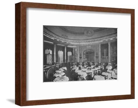 The Ritz Carlton Restaurant on board the ocean liner SS Leviathan, 1923--Framed Art Print