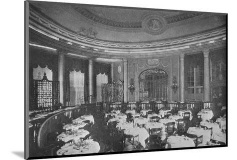 The Ritz Carlton Restaurant on board the ocean liner SS Leviathan, 1923--Mounted Photographic Print
