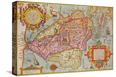 Map of Peru, c1599-Arnoldus Florentius-Stretched Canvas Print
