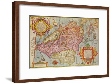 Map of Peru, c1599-Arnoldus Florentius-Framed Art Print