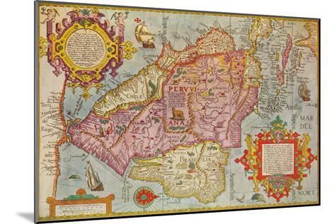 Map of Peru, c1599-Arnoldus Florentius-Mounted Giclee Print