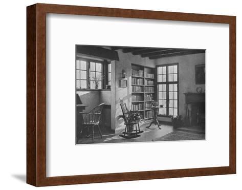 Living room - stucco cottage at Bronxville, New York, 1925--Framed Art Print