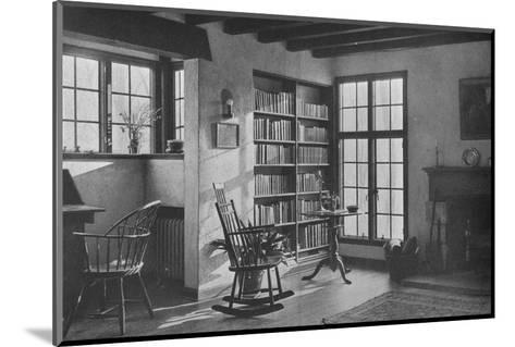 Living room - stucco cottage at Bronxville, New York, 1925--Mounted Photographic Print