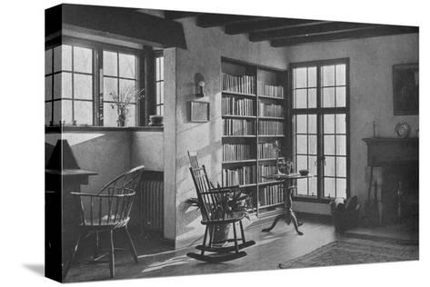 Living room - stucco cottage at Bronxville, New York, 1925--Stretched Canvas Print