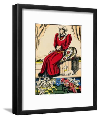 Henry VI, King of England from 1422-1461 and 1470-1471, (1932)-Rosalind Thornycroft-Framed Art Print