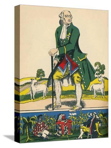 George III, King of Great Britain and Ireland from 1760, (1932)-Rosalind Thornycroft-Stretched Canvas Print