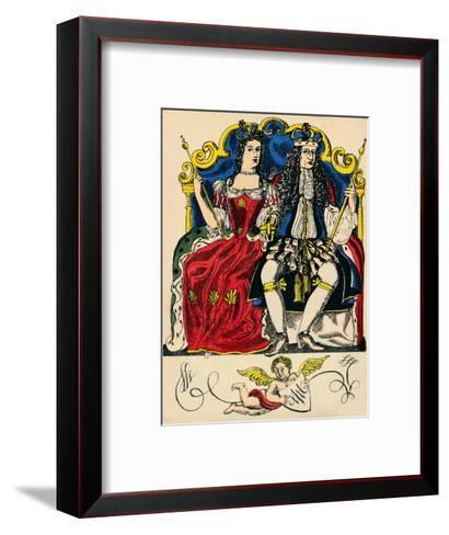 William III and Mary II, King and Queen of Great Britain and Ireland from 1688, (1932)-Rosalind Thornycroft-Framed Art Print