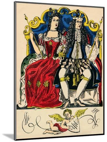 William III and Mary II, King and Queen of Great Britain and Ireland from 1688, (1932)-Rosalind Thornycroft-Mounted Giclee Print