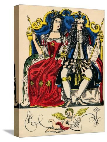 William III and Mary II, King and Queen of Great Britain and Ireland from 1688, (1932)-Rosalind Thornycroft-Stretched Canvas Print