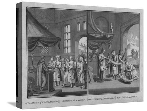 Marriage of Laplanders - Christening of Laplanders, 1726-Claude Dubosc-Stretched Canvas Print