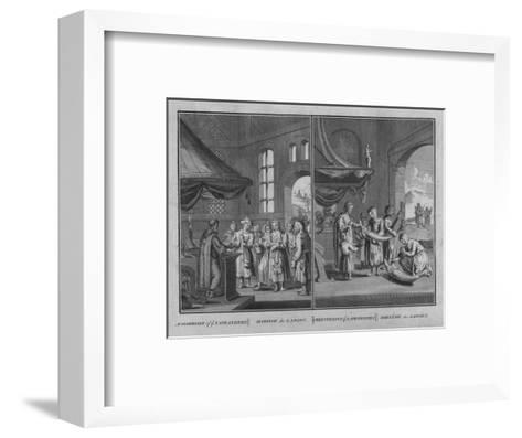 Marriage of Laplanders - Christening of Laplanders, 1726-Claude Dubosc-Framed Art Print