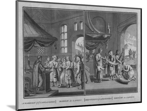 Marriage of Laplanders - Christening of Laplanders, 1726-Claude Dubosc-Mounted Giclee Print