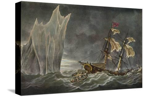 Wreck of the Lady Hobart, 1803, 1925--Stretched Canvas Print
