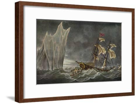 Wreck of the Lady Hobart, 1803, 1925--Framed Art Print