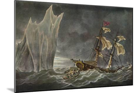 Wreck of the Lady Hobart, 1803, 1925--Mounted Giclee Print