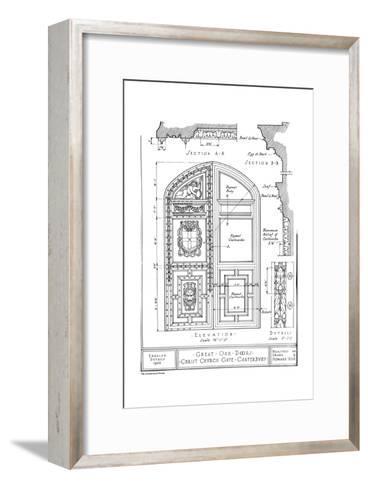 Great oak doors, Christ Church Gate, Canterbury, Kent, 1922-Howard Moise-Framed Art Print