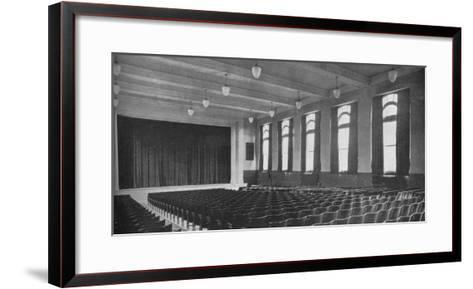Interior of the auditorium, David Worth Dennis Junior High School, Richmond, Indiana, 1922--Framed Art Print