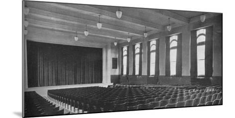 Interior of the auditorium, David Worth Dennis Junior High School, Richmond, Indiana, 1922--Mounted Photographic Print