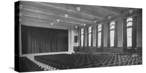 Interior of the auditorium, David Worth Dennis Junior High School, Richmond, Indiana, 1922--Stretched Canvas Print