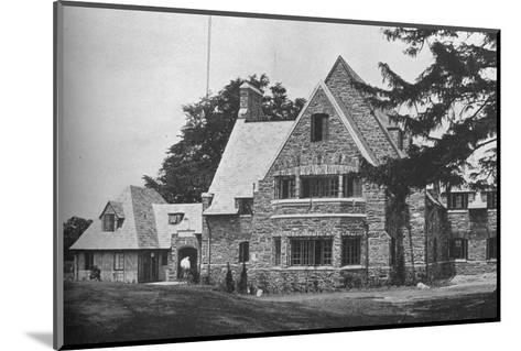Locker room wing from the 1st tee, East Course, Winged Foot Golf Club, Mamaroneck, New York, 1925--Mounted Photographic Print