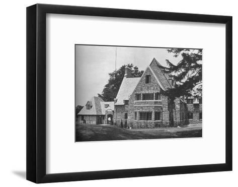 Locker room wing from the 1st tee, East Course, Winged Foot Golf Club, Mamaroneck, New York, 1925--Framed Art Print