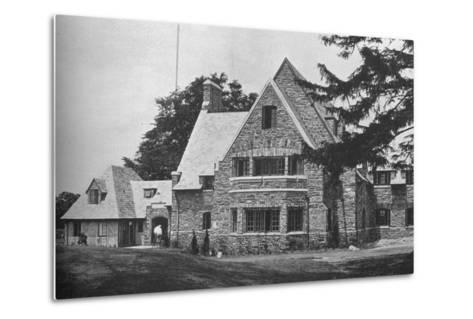 Locker room wing from the 1st tee, East Course, Winged Foot Golf Club, Mamaroneck, New York, 1925--Metal Print