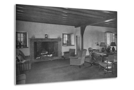 Fireplace in the dining room, Plainfield Country Club, Planfield, New Jersey, 1925--Metal Print