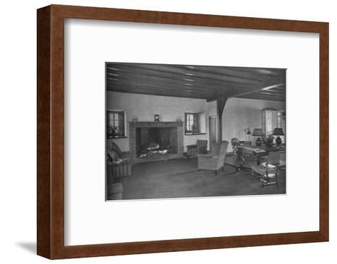 Fireplace in the dining room, Plainfield Country Club, Planfield, New Jersey, 1925--Framed Art Print