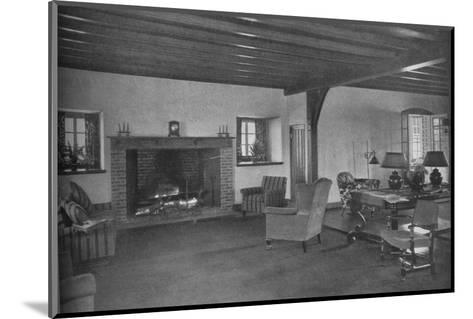 Fireplace in the dining room, Plainfield Country Club, Planfield, New Jersey, 1925--Mounted Photographic Print