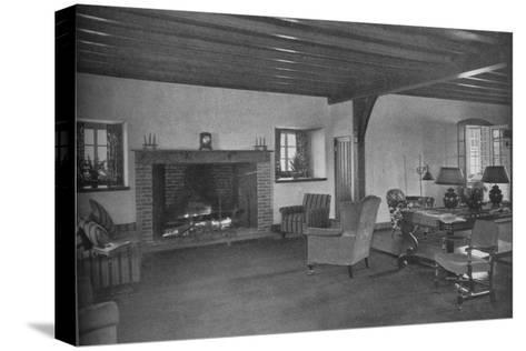 Fireplace in the dining room, Plainfield Country Club, Planfield, New Jersey, 1925--Stretched Canvas Print