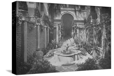 The garden of the house of Benjamin Wood, New York, 1926--Stretched Canvas Print