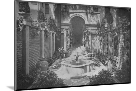 The garden of the house of Benjamin Wood, New York, 1926--Mounted Photographic Print
