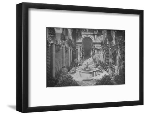 The garden of the house of Benjamin Wood, New York, 1926--Framed Art Print