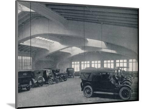 Concrete portal or rigid bent, 1922--Mounted Photographic Print