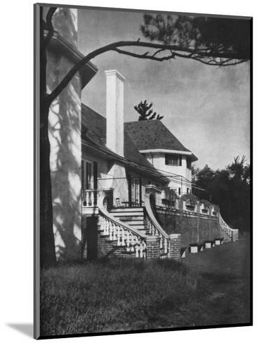 Detail of court side, Longwood Cricket Club, Chestnut Hill, Massachusetts, 1922--Mounted Photographic Print