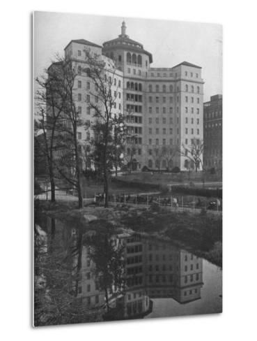 General view from Central Park, Fifth Avenue Hospital, New York City, 1922--Metal Print