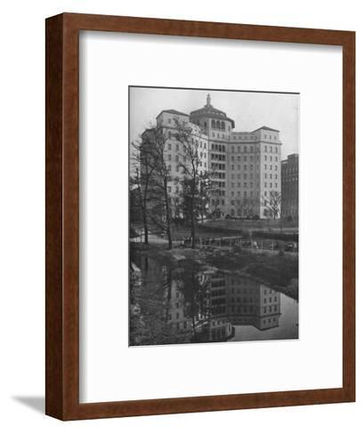 General view from Central Park, Fifth Avenue Hospital, New York City, 1922--Framed Art Print