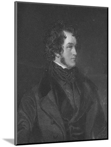 Mr. Harrison Ainsworth, c1840-WC Edwards-Mounted Giclee Print