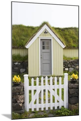A House in the Town of Husavik Along the North Coast of Iceland-Michael Melford-Mounted Photographic Print