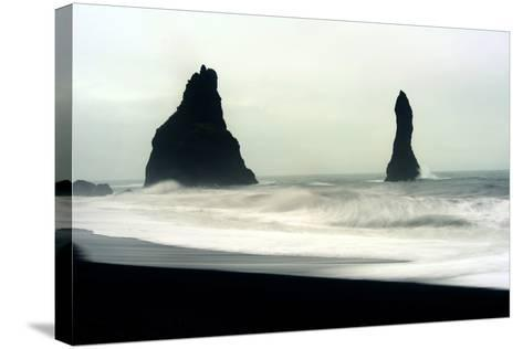 The Mysterious Black Reynisfjara Beach on the South Coast of Iceland-Raul Touzon-Stretched Canvas Print