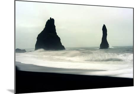 The Mysterious Black Reynisfjara Beach on the South Coast of Iceland-Raul Touzon-Mounted Photographic Print