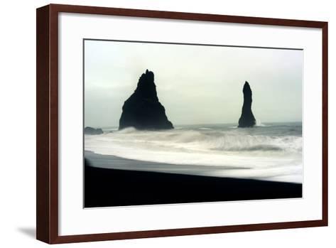 The Mysterious Black Reynisfjara Beach on the South Coast of Iceland-Raul Touzon-Framed Art Print
