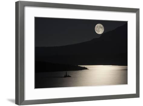 Full Moon over Saint Mary's Lake in Montana's Glacier National Park-Keith Ladzinski-Framed Art Print