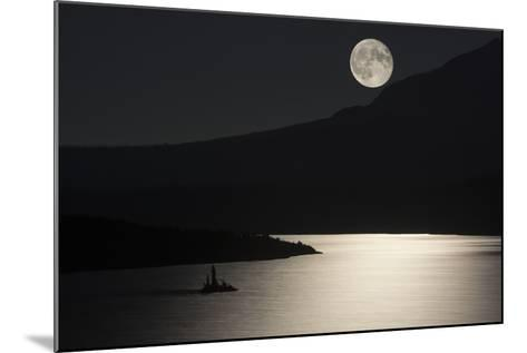 Full Moon over Saint Mary's Lake in Montana's Glacier National Park-Keith Ladzinski-Mounted Photographic Print